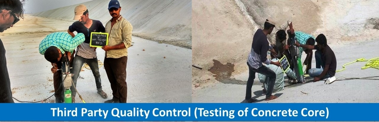 Third Party Quality Control (Testing of Concrete Core)