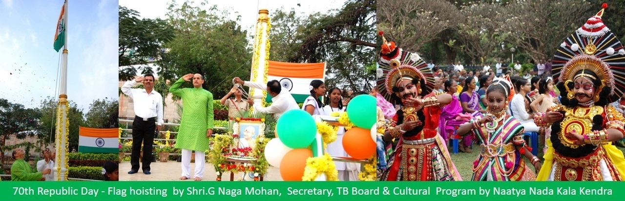 70th Republic Day - Flag hoisting  by Shri.G Naga Mohan,  Secretary, TB Board
