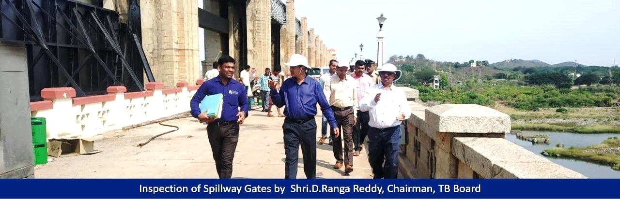 Inspection of Spillway Gates by  Shri.D.Ranga Reddy, Chairman, TB Board